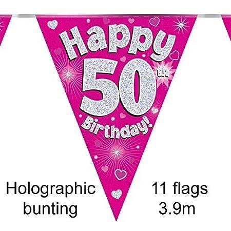 Eleganza Happy 70th Birthday Bunting, Foil, Blue, 10 x 10 x 1 cm OAKTREE UK 631489