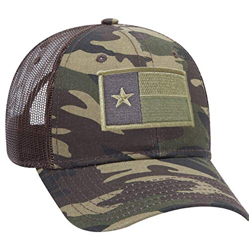 Strange Cargo Texas State Flag Patch Camouflage Camo Curved Brim Baseball Cap Hat (State Texas Patch Flag)