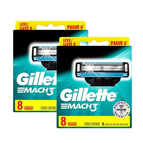 Kit Carga Gillette Mach3 Regular com 16 unidades
