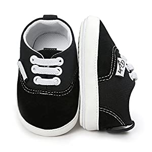 0c0c2fca02ff1 Baby Girls Boys Canvas Shoes Soft Sole Toddler First Walker Infant High-Top  Ankle Sneakers Newborn Crib Shoes