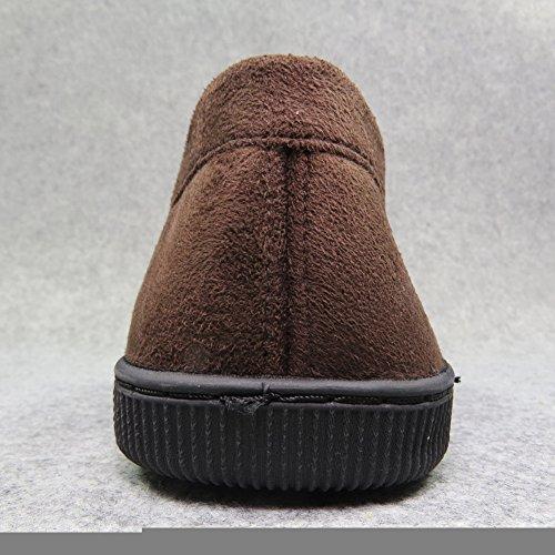 LA PLAGE - Zapatillas de estar por casa para hombre marrón