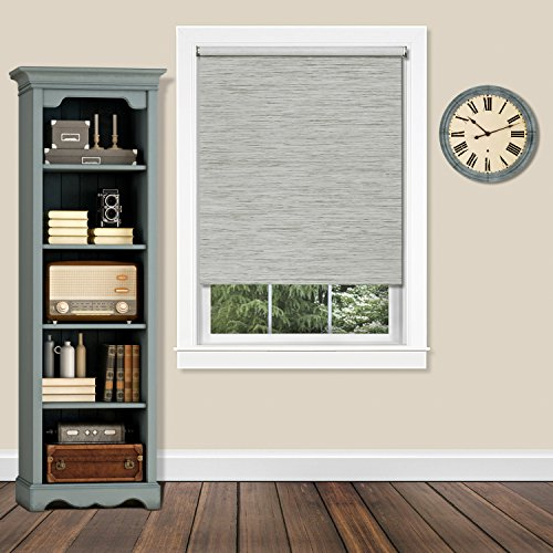 "Achim CPS726HT01 Cordless Privacy Jute Shade Heather, 72"" x 72"", Gray from Achim"