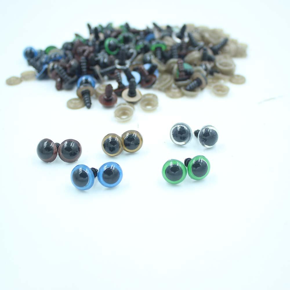 Occhi per orsetto, 10-18 mm, in plastica, 100 pezzi Besttoyeye