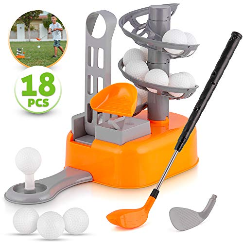 BRITENWAY Kids Golf Toy Set, Toddler Golf Sports Toys, Early Educational and Outdoor Exercise Toys for Toddlers, Learning Sports Game for 3, 4, 5, 6, 7 Year Old Boys and Girls