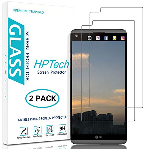 HPTech LG V20 Screen Protector - (2-Pack) [Japan Tempered Glass] for LG V20 Bubble Free 9H Hardness Easy to Install with Lifetime Replacement Warranty (Best Lg V20 Glass Screen Protector)