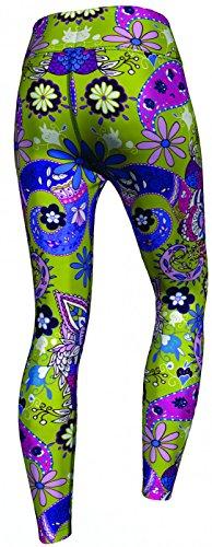 Paisley Floral Leggings sehr dehnbar für Sport, Gymnastik, Training, Tanzen & Freizeit