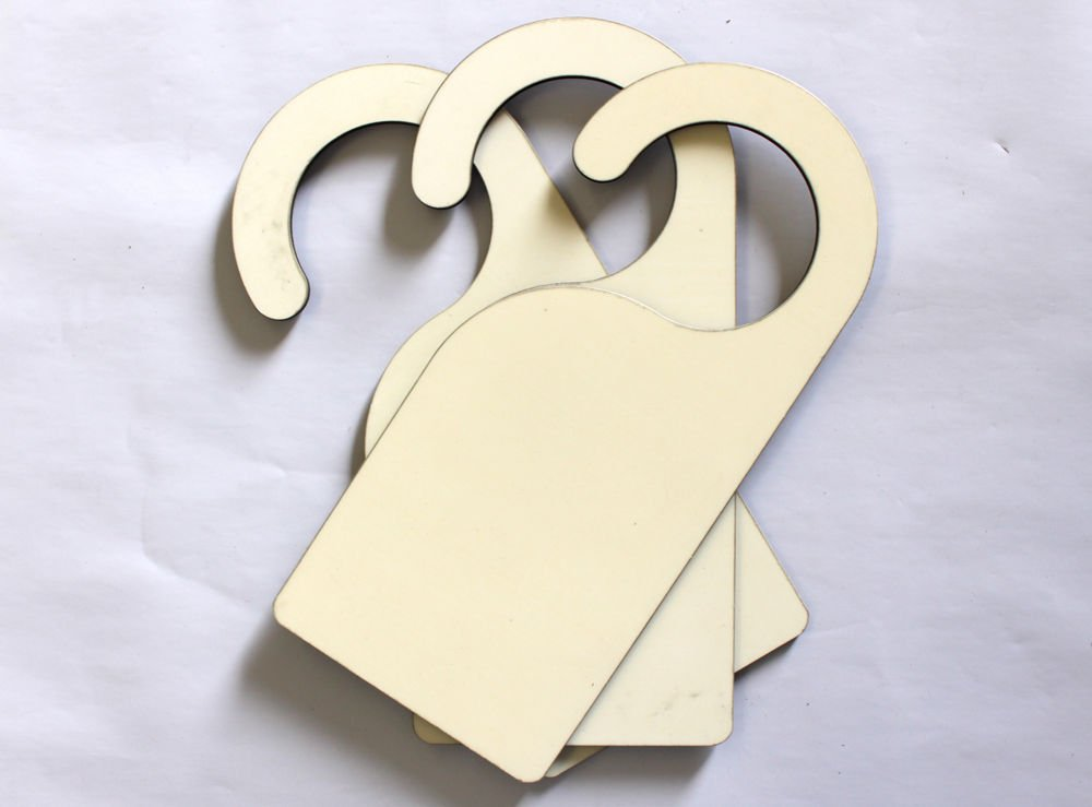Blank MDF Door Hanger Sigh for Heat Press Sublimation 102053 UKCutter