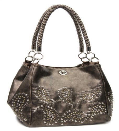 f85999fcd90 Buy Bronze Studded Paisley Designer Purse By Handbags, Bling and ...