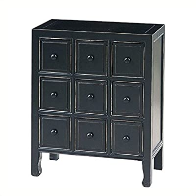 Wayborn Home Furnishing Suchow 9 Drawer CD Chest, Black