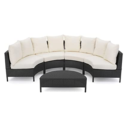 Amazon.com : Best Selling Home ETA 5 Piece Patio Wicker Sofa Set ...