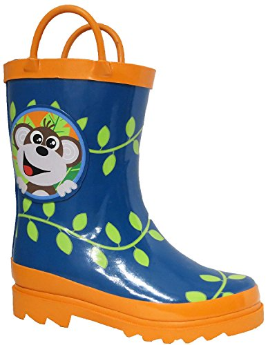 Little Boy's Monkeyin' Around Rain Boots - Size 11 (Little Kid) ()