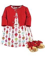 فستان وكارديجان وحذاء للفتيات الصغار من ليتل تريجر