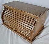 under cabinet bread box - Roll Top Bread Box - Warm Brown Stain