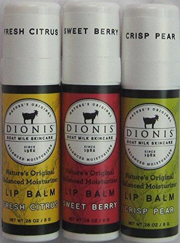 Dionis Lip Balm - Crisp Pear, Fresh Citrus, and Sweet Ber...