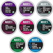 Maud's 8 Blend Organic Tea Variety Pack 48ct. Solar Energy Produced Variety Green Tea, Black Tea, Peppermi