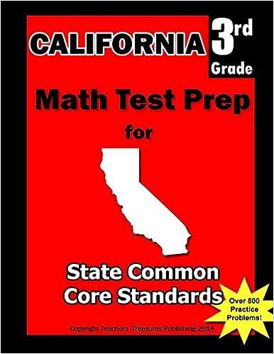 california state test 3rd grade math