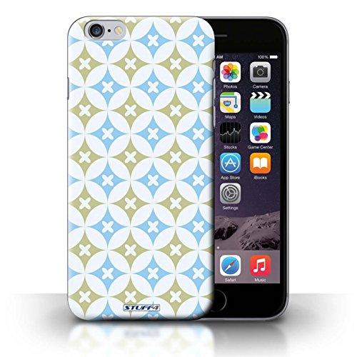 iCHOOSE Print Motif Coque de protection Case / Plastique manchon de telephone Coque pour iPhone 6+/Plus 5.5 / Collection Kaléidoscope / Bleu/marron