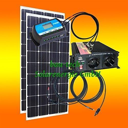 200 Watt Inselanlage, 12 Volt SET mit Spannungswandler ohne Batterie