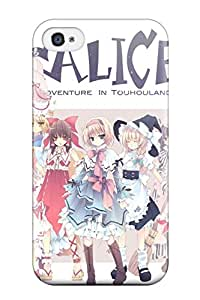 1947694K102699594 animal blondeblue blush bow cat Anime Pop Culture Hard Plastic iPhone 4/4s cases