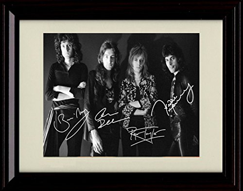 Brian May Replica (Framed Queen Autograph Replica Print)