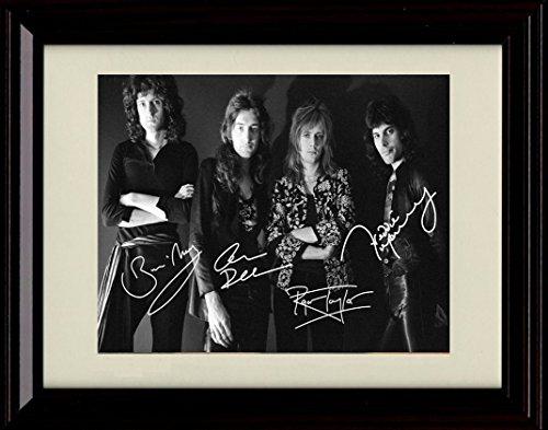 Framed Queen Autograph Replica - Autograph Poster
