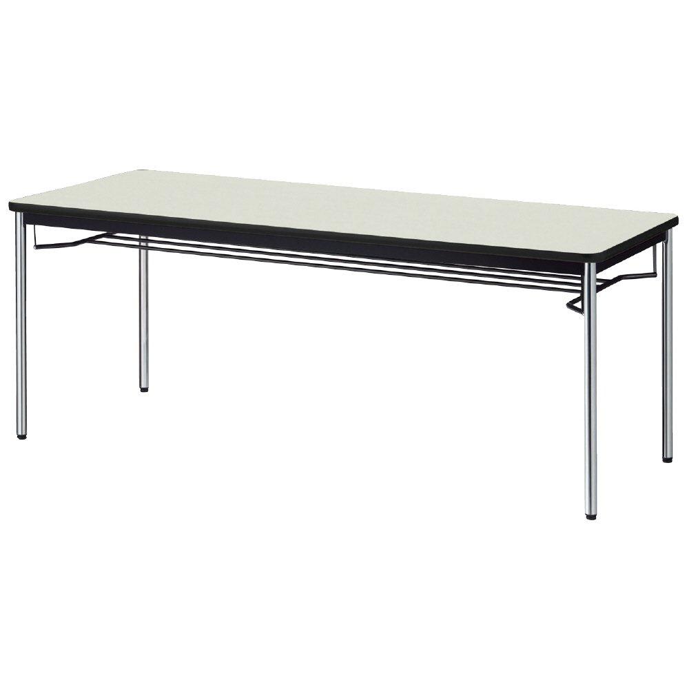 プラス 会議テーブル YB2 メッキ脚 天板エルグレー YB-S625 LGY/P B00VW8VYPE 幅180×奥行75cm エルグレー(天板)×メッキ脚 エルグレー(天板)×メッキ脚 幅180×奥行75cm