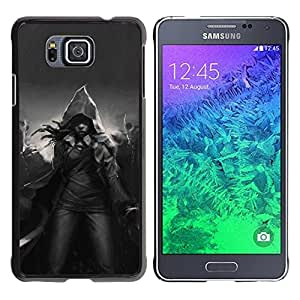 Paccase / SLIM PC / Aliminium Casa Carcasa Funda Case Cover para - Magic Hood Black White Mystical - Samsung GALAXY ALPHA G850