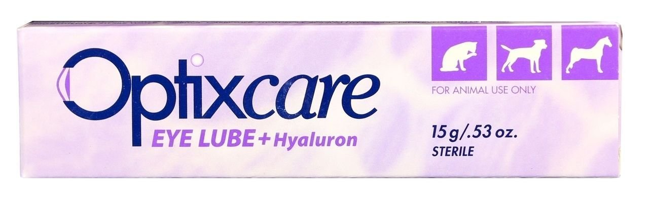 OptixCare dog cat puppy eye lubricant , helps protect the cornea and conjunctiva,helps easing the discomfort of dry eye, Helps to minimize ocular dehydration during anesthesia. (15)