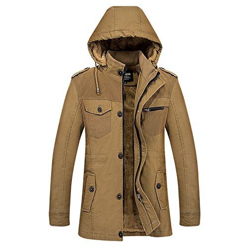 Di Velluto Dimensioni Nella Casual Kaki Cotone Giacca Grandi Lunga Xl coltivazione Cappotto Plus Auto Invernale Sezione pwIqCP