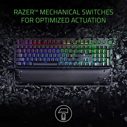 Razer BlackWidow Elite Mechanical Gaming Keyboard - [Green Mechanical Switches - Tactile & Clicky][Chroma RGB Lighting][Magnetic Wrist Rest][Dedicated Media Keys & Programmable Dial][USB Passthrough] by Razer (Image #1)