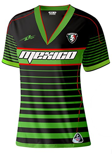 Mexico Soccer Women's Jersey New Style Exclusive Design (Small, - Women Mexico Jersey