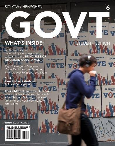 GOVT6 (with CourseMate Printed Access Card) (New, Engaging Titles from 4LTR Press)