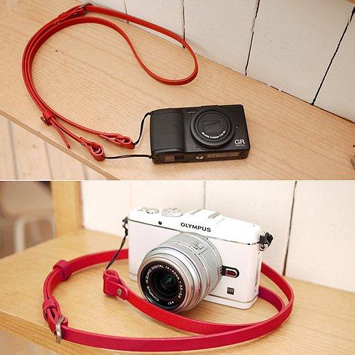 CIESTA d-slr RFミラーレスカメラレザーネックショルダーストラップButtero (レッド)   B0112L7Q70