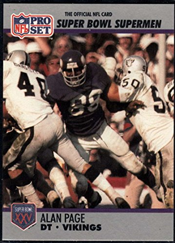 - Football NFL 1990-91 Pro Set Super Bowl 160 #86 Alan Page NM-MT Vikings