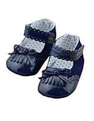 Theplus Baby Girl Prewalker Toddler Soft Sole Splice Leather Crib Shoes