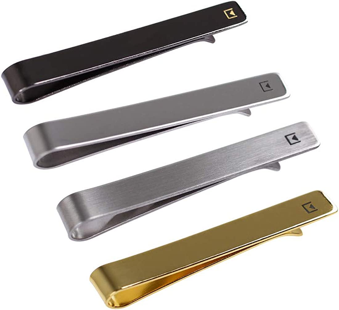 4 Pieces Fashion Stainless Steel Tie Bars Set Epoint Mens Fashion Metallic Tie Clips