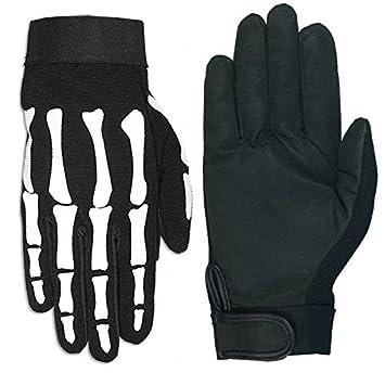 Hot Leathers Skeleton Mechanic Gloves (Black, XX-Large) GVM2007 BLACK; 2XL