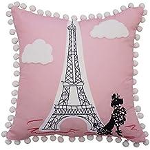 "Waverly Kids Ooh La Embroidered Decorative Accessory Pillow, 15"" x 15"", Multicolor"