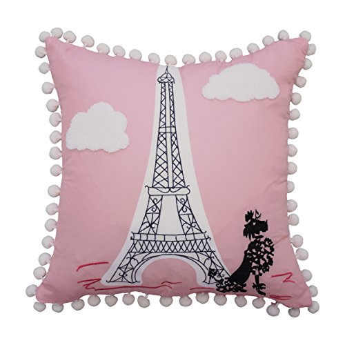 - WAVERLY Kids Ooh La Embroidered Decorative Accessory Pillow, 15