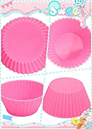 Delidge Silicone Baking Cups, Pack of 24, Assorted