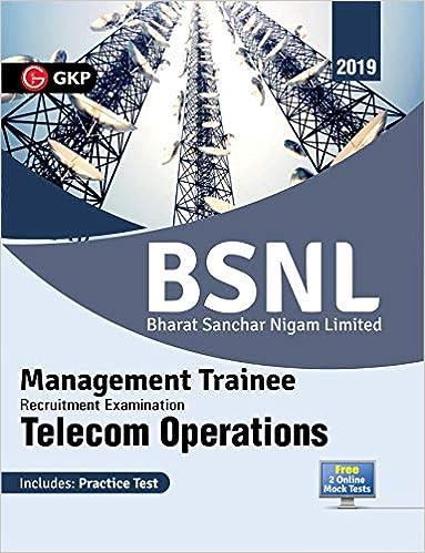 Buy BSNL (Bharat Sanchar Nigam Limited) 2019 - Management Trainee