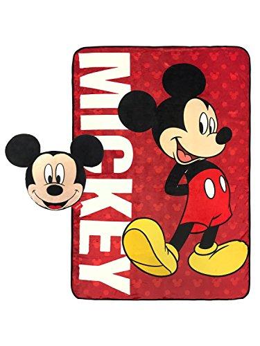 Mouse Blanket Mickey (Nogginz Pillow & Plush Blanket Set Disney Mickey Mouse)