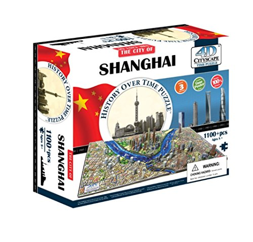 4D Cityscape Shanghai, China Time Puzzle ()