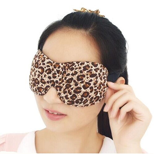 [3D Eye Mask Shade Cover Rest Sleep Eyepatch Blindfold Shield Travel Sleeping Aid (Color: Leopard)] (Fancy Dress Contact Lenses)