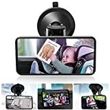 DAMIGRAM Baby Car Mirror, Rear View Backseat Mirror For Babies and Toddlers in Car Seats with Wide Angle 360 Degree Rotatable
