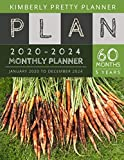 5 year monthly planner 2020-2024: 2020-2024 Five