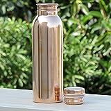 850ml / 28.74oz - Prisha India Craft Pure Copper Lining Bisleri Design Bottle - Storage Drinking Water Home Hotel Restaurant Benefit Yoga Ayurveda Healing - CHRISTMAS GIFT ITEM