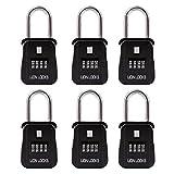 Lion Locks 1500 Key Storage Realtor Lock Box with Set-Your-Own Combination, (6 Pack, Black)