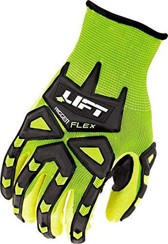 Rigger Gloves (LIFT Safety Rigger-Flex Gloves (Hi-Viz Yellow, Small))