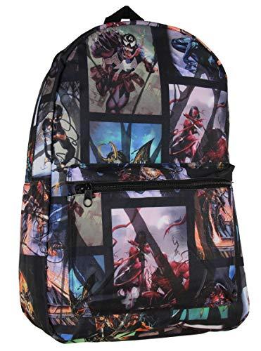 Marvel Venom Symbiote Takeover Allover Comic Print School Travel Laptop Backpack]()